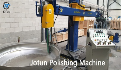 Tank and dish head polishing machine for Portuguese customers